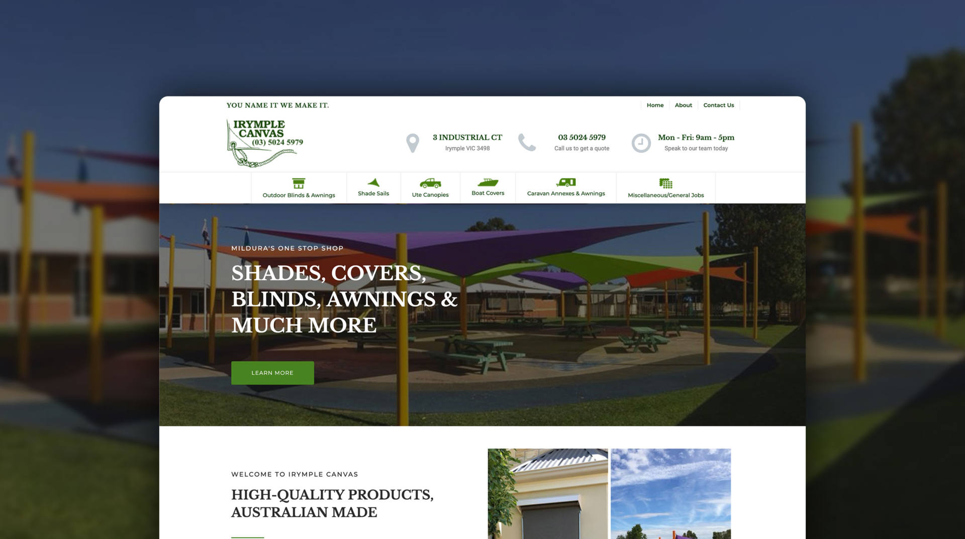 Irymple Canvas - Website Design by Creative Krew Mildura Website Designer